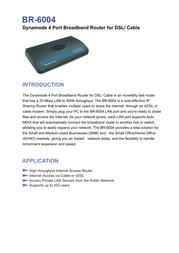 Dynamode 4 Port Broadband Router for DSL/Cable BR-6004 Merkblatt