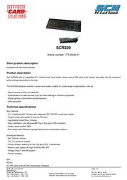SCM SCR339 Leaflet