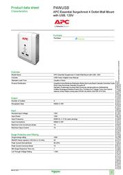 Schneider Electric P4WUSB Data Sheet