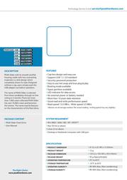 PEAK Slider Flash Drive  8GB 178738FBPK Leaflet