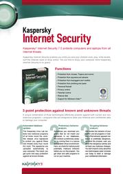 Kaspersky Lab Kaspersky® Internet Security 7.0, DVD, OEM KL1825NLOEM Leaflet