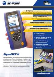 Ideal Networks SignalTEK IICable length meter, R156001 Information Guide