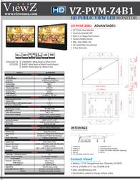 ViewZ VZ-PVM-Z4B1 Leaflet