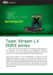 Team Group Xtreem Ram TXD34096M2000HC9DC-L User Manual