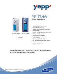 Samsung MP3-SPELER YP-T5H YP-T5H Leaflet