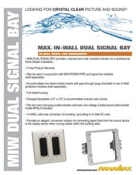 Panamax MIW-Dual Signal Bay MIW-DUAL SIGNAL BAY Leaflet