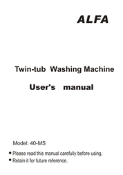 Alfa 40-MS User Manual