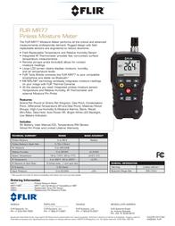 FLIR MR77 PINLESS MOISTURE METER MR77 Data Sheet