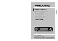 Pyramid Car Audio CDR-39M User Manual