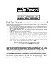 la Pavoni PC-16 User Manual