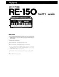 Roland SONAR re-150 User Manual