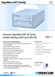 Freecom TapeWare DLT-VS80es 16408 Leaflet