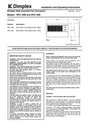 Dimplex WFC 3NB User Manual