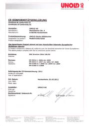 Unold Blitzkocher 8250 Declaration Of Conformity