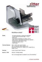 Ritter Solida 5 555.005 Leaflet