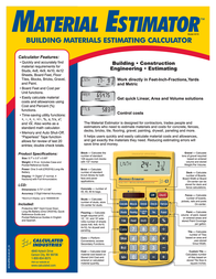 Calculated Industries Material Estimator 4019 Leaflet