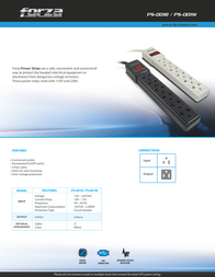 Forza Power Technologies PS-001B Leaflet