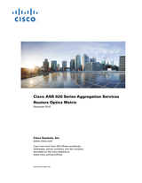 Cisco Cisco ASR 920-4SZ-A Router Installation Guide