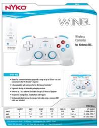 Nyko Wing 87029 Leaflet
