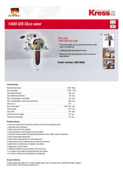 Kress 1400 DS DUO 06012608 Leaflet