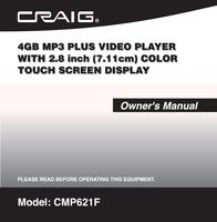Craig CMP621F User Manual