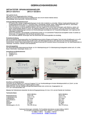 IVT 400005.3 Synchronised Voltage Transformer input: 24 Vdc output: 13.8 Vdc 400005.3 User Manual