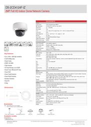 Hikvision Digital Technology DS-2CD4124F-IZ Leaflet