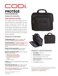 CODi Protege K10040006 Leaflet