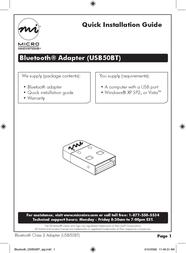Micro Innovations USB50BT Leaflet