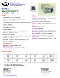 Sparkle Technology SPI4002UC SPI4002UC-B204 Leaflet