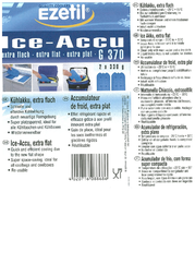 EZetil Kühlakkus G370 2x Ice Packs (L x W) 245 mm x 130 mm 886820 Leaflet