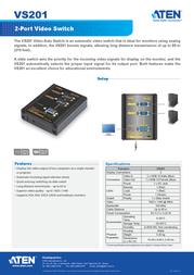 Aten VS201 Leaflet