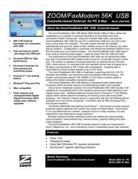 Hayes FaxModem 56K USB 5510-72-00BF Leaflet