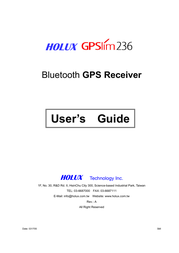 Holux gpsmile236 User Guide
