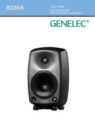 Genelec 8030A 8030AWM Data Sheet