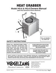 Vogelzang International Electric Heater HG-8 ユーザーズマニュアル