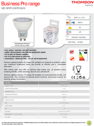 Thomson Lighting GU10 Business Pro 5.5W THOM62542-BPG105 Leaflet
