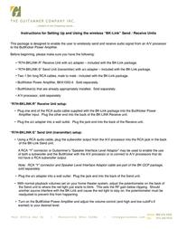 ButtKicker R7H-BKLINK-R Leaflet
