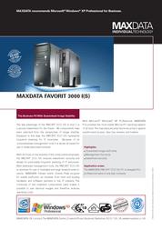 Maxdata Favorit 3000 S 363775 Leaflet