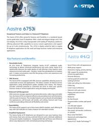AASTRA 6753i A1753-0131-10-55 Leaflet