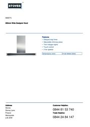Stoves 900DTC 444448484 Leaflet