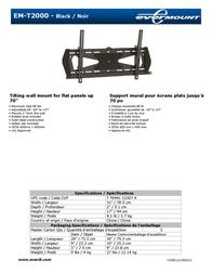 Evermount EM-T2000 Leaflet