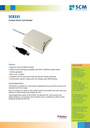 SCM SCR3310 904823 Leaflet