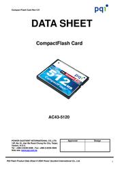 PQI MEM CF PQI Compact Flash 40x 128Mb AC43-1280-0182 Leaflet