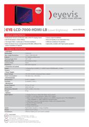 eyevis EYE-LCD-7000-HDMI-LB Leaflet
