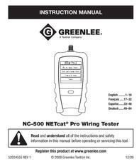 Greenlee NC-500 User Manual