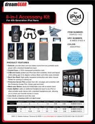 dreamGEAR 11 In 1 Accessory Kit DGIPOD-1422 Leaflet
