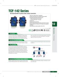 Moxa TCF-142-M RS-232/422/485 - Fiber Converter TCF-142-M User Manual