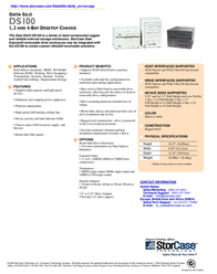 StorCase Data Silo® DS100 4-Bay Single Channel Wired for 4 Drives. Black DS100-4-160/B Data Sheet
