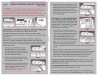 Nissan INTEGRATED HOMELINK TRANSCEIVER Leaflet